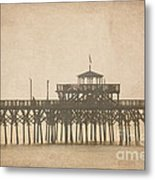 Ghostly Pier Metal Print