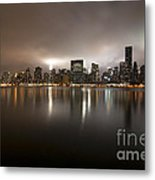 Ghostly Skyline Metal Print