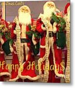 Ghosts Of Christmas Costs Greeting Card Metal Print