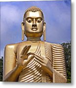 Giant Gold Bhudda Metal Print by Jane Rix