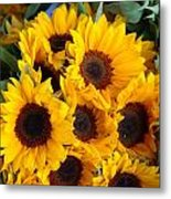 Giant Sunflowers For Sale In The Swiss City Of Lucerne Metal Print