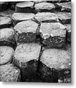 Giants Causeway Stones Northern Ireland Metal Print