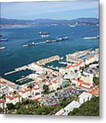 Gibraltar Town And Bay Metal Print