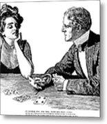 Cards, 1900 Metal Print