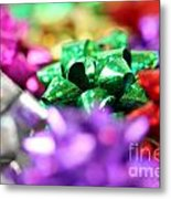Gift Bows Close Up Metal Print