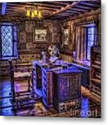 Gillette Castle Office Hdr Metal Print by Susan Candelario
