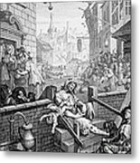 Gin Lane, William Hogarth Metal Print