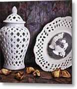 Ginger Jar And Compote Still Life Metal Print by Tom Mc Nemar