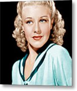 Ginger Rogers In Rko Publicity Metal Print by Everett