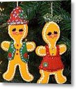Gingerbread Couple Metal Print