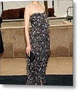 Ginnifer Goodwin Wearing A Yves Saint Metal Print by Everett