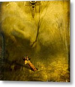 Giraffe And The Heart Of Darkness Metal Print
