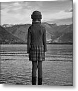 Girl At A Lake Metal Print