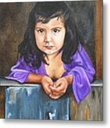 Girl From San Luis Metal Print