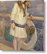 Girl In A Sailor Suit Metal Print
