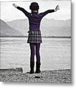 Girl On The Shores Of Lake Maggiore Metal Print