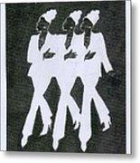 Girl Trio Metal Print