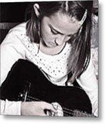 Girl With A Guitar  Metal Print