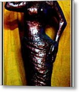 Girl With Rose Metal Print