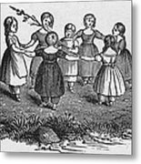 Girls Playing, 1844 Metal Print