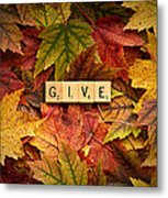 Give-autumn Metal Print