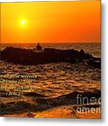 Give Your Cares To God Metal Print