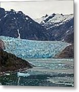 Glacial Bay And Ice Metal Print by Mike Reid