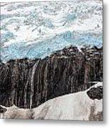 Glacial Edge Waterfall Metal Print