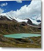 Glacial Lake In Kyrgyz Tien-shan Metal Print