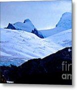 Glacier Cracks Metal Print