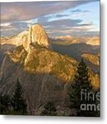 Glacier Point Glow Metal Print