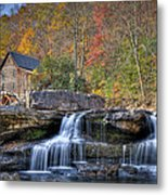 Glade Creek Grist Mill At Babcock Metal Print by Williams-Cairns Photography LLC