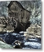 Glade Creek Mill In Infrared. Metal Print