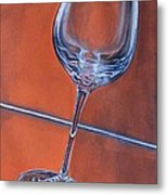 Glass 3 Metal Print