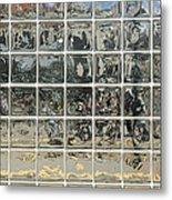 Glass Block Wall Metal Print