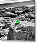 Glass By The Sea Metal Print