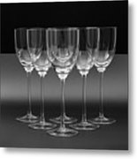 Glass In Black Background Metal Print