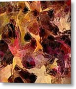 Glass Leaves Metal Print by Marilyn Sholin