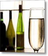 Glass Of Champagne Metal Print