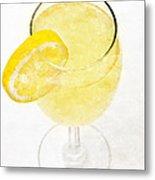 Glass Of Lemonade Metal Print
