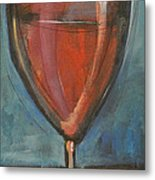 Glass Of Red Metal Print by Tim Nyberg