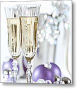 Glasses Of Champagne Metal Print