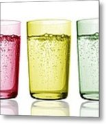 Glasses Of Water Metal Print by Gombert, Sigrid