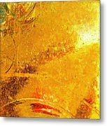 Glassworks Series-gold I Metal Print