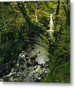 Glenariff, Co Antrim, Ireland Waterfall Metal Print