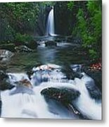 Glencar, Co Sligo, Ireland Waterfall Metal Print