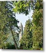 Glendalaugh Round Tower 12 Metal Print