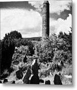 Glendalough Round Tower Ireland Metal Print