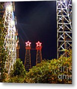 Glimpse Of The Derricks In Kilgore Metal Print