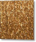 Glistening Gold Prairie Grass Abstract Metal Print
